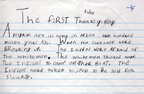 Always save your kids' schoolwork or you could miss out on some real gems