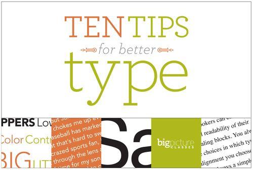 Announcing Ten Tips for Better Type in 2012