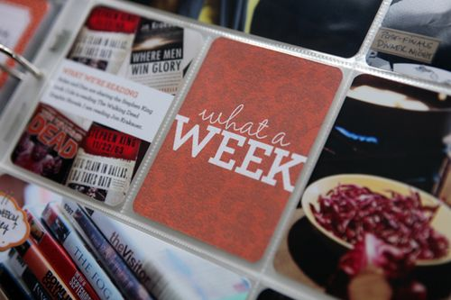 Project Life—Week Three + a free download card and tutorial