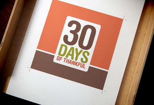 30 Days of Thankful: A gratitude album project + free downloads