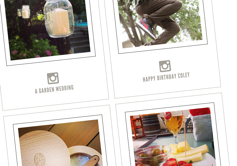 Playing with Instagrams (free card download + tutorial)
