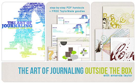 Sponsor giveaway: The Art of Journaling workshop from Scrapaneers.com