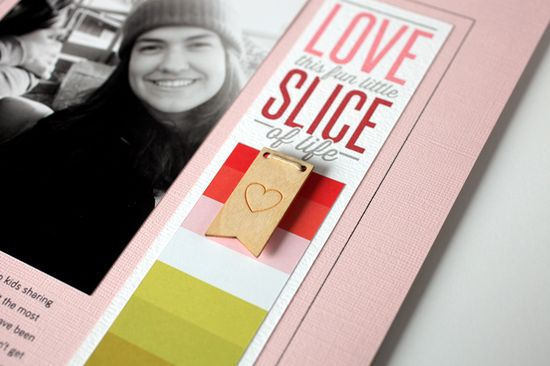 Hybrid Scrapbook Page: Love This Fun Little Slice of Life