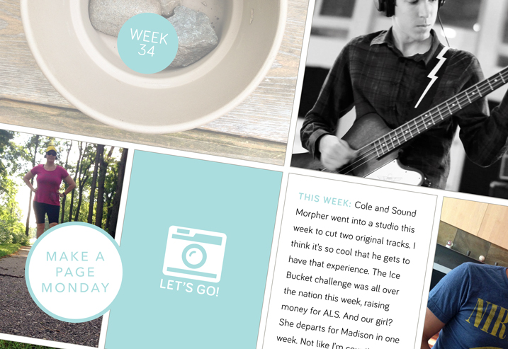 Make a Page—er, several pages—Monday:  A Project Life Catch Up Edition