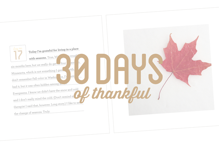 30 Days of Thankful Continues