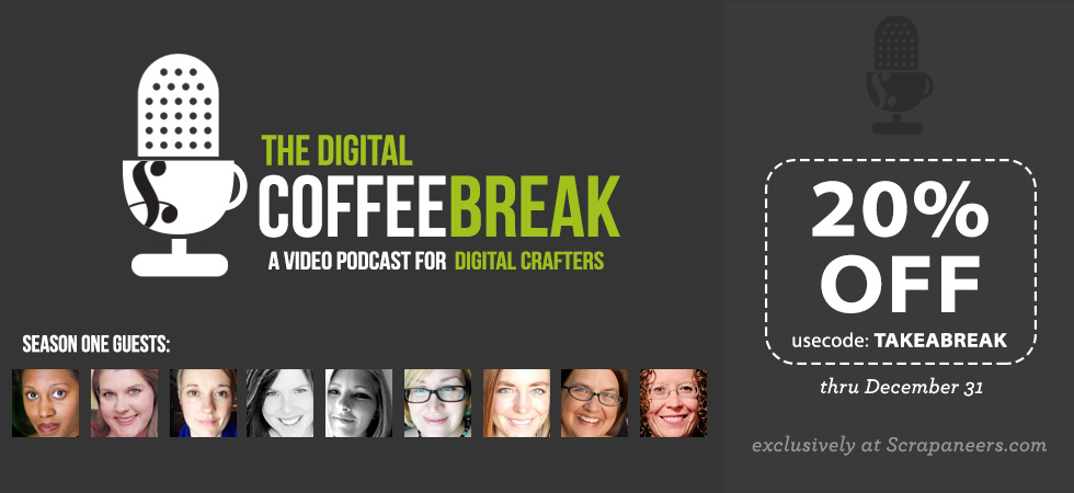 Sponsor Giveaway: a free pass to The Digital Coffee Break from Scrapaneers