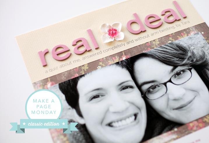 Make a Page Monday | Classic Edition