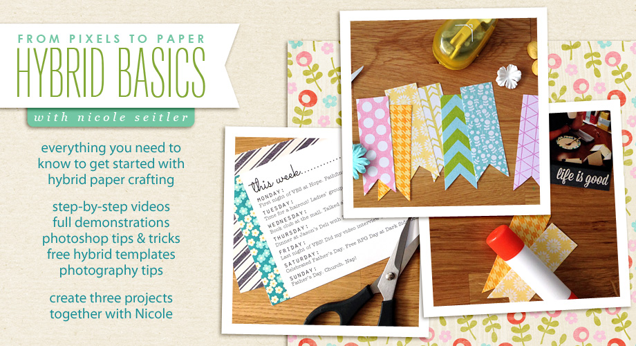 Sponsor Giveaway: From Pixels to Paper, Hybrid Basics from