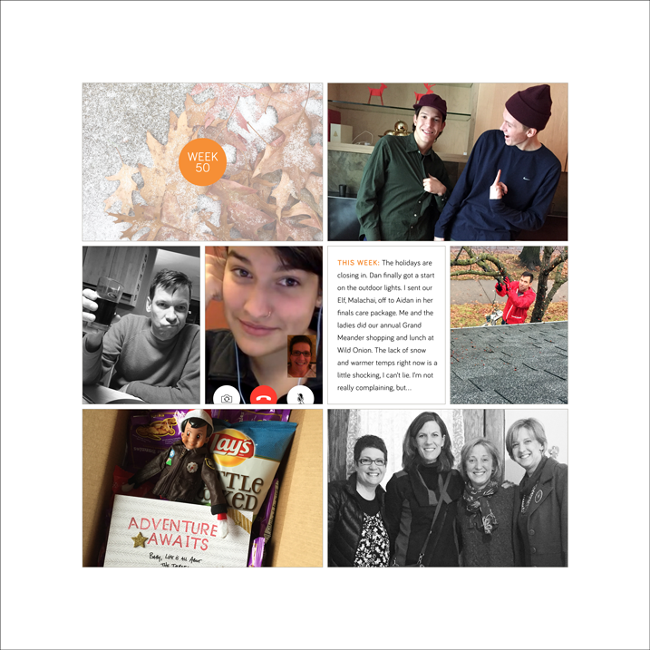 make a page monday | project life wrap up for 2014