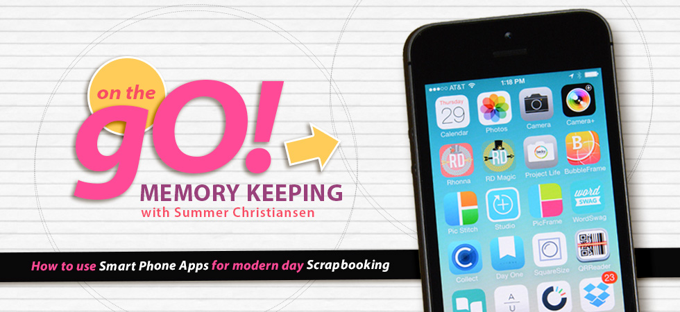 Sponsor Giveaway: win a spot in On The Go Memory Keeping from Scrapaneers
