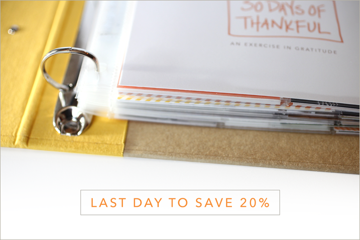 Last day to save 20% on 30 Days of Thankful