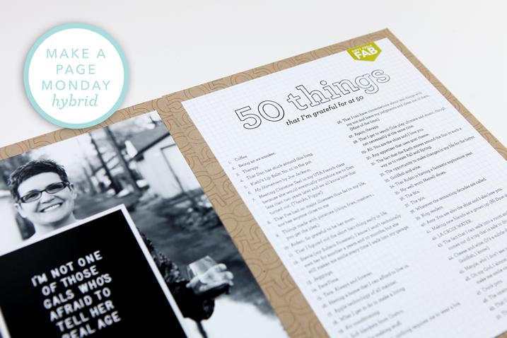 Make a Page Monday: 50 Things at 50