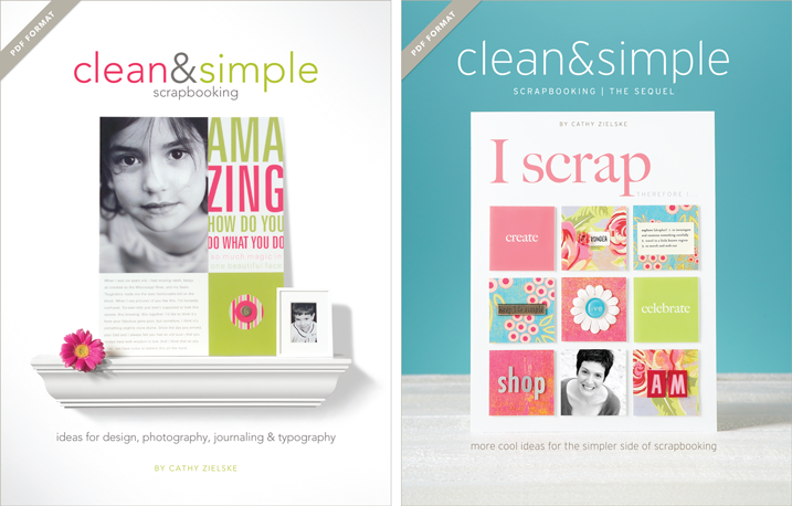 My two books that set the standard for clean and simple scrapbooking are now available in digital PDF format. Click through to learn how to order today.