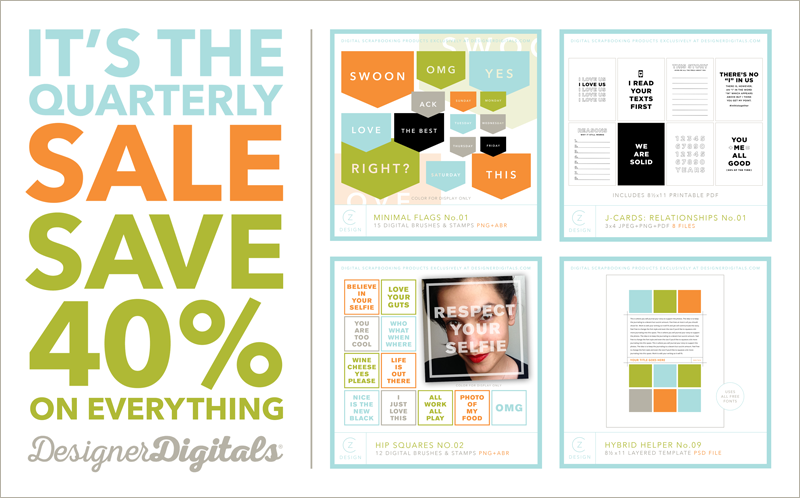 It's the Designer Digitals quarterly sale!