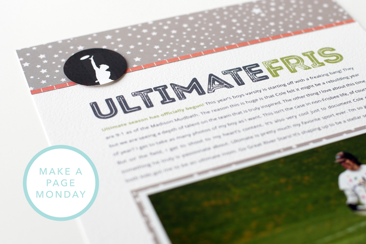 Scraplifting ideas from a magazine is a great way to come up with designs for your layouts. Oh, and the fact that there is one GREAT scrapbook magazine out there? Bonus. Check out my latest installment of Make a Page Monday. Includes a free Hybrid Helper template download.