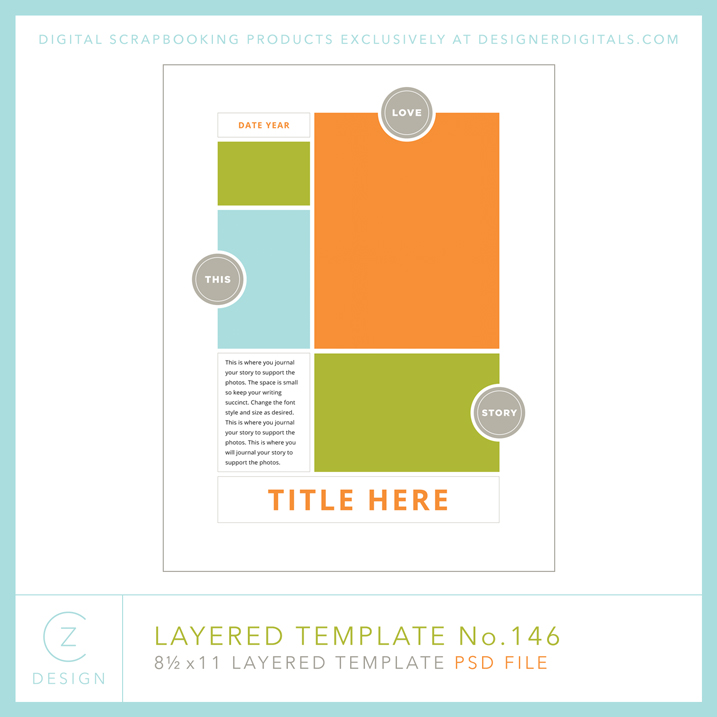 Download this simple 8.5 x 11 layered template. Click through to see how I used it in a hybrid scrapbooking way.