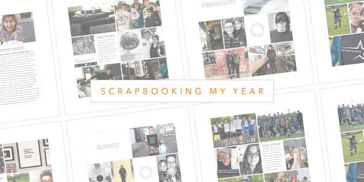 A look at how I'm documenting my year, one month, 4 pages and about 30 photos or less at a time. Click through to see how.