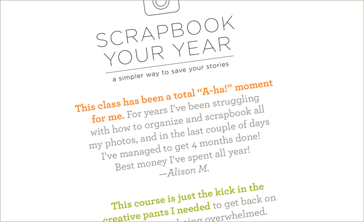 Last weekend to save on Scrapbook Your Year