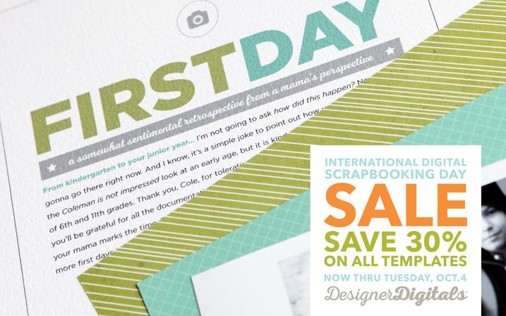 International Digital Scrapbooking Day is almost upon us, people!