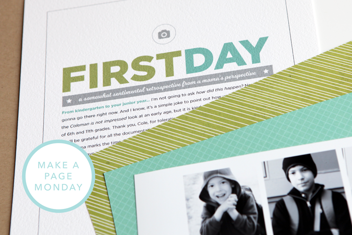 Make a Page Monday: a hybrid layout + a video tutorial (plus a new preorder for 30 Days of Thankful stamps!)