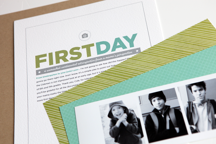 Learn how to use a digital template to make a hybrid scrapbook page. Click through for more!
