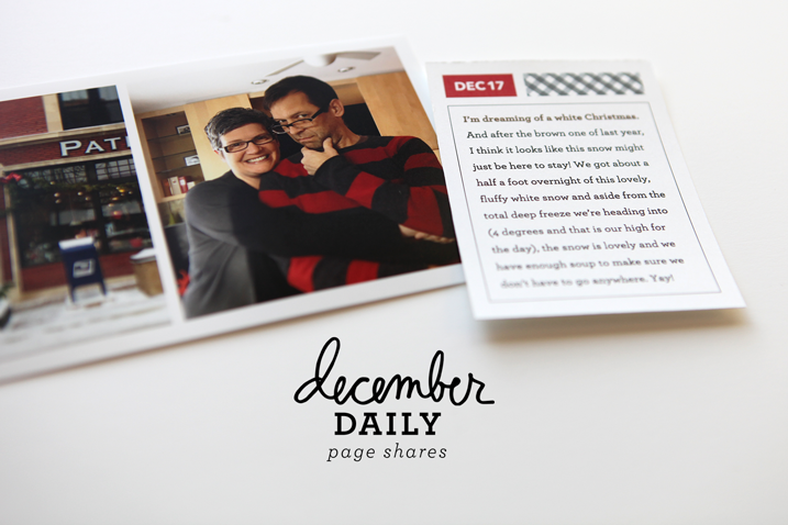 Cathy Zielske's take on December Daily.