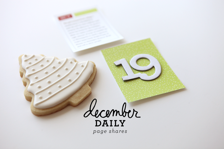 Cathy Zielske's simple take on December Daily.