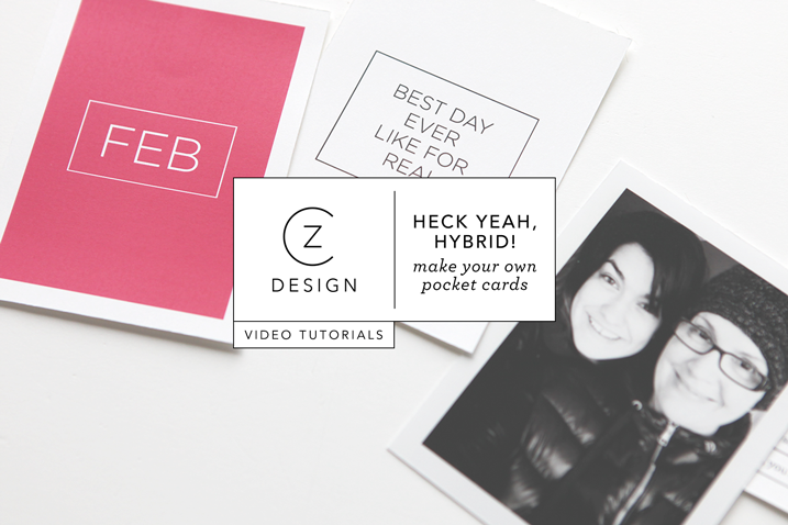 New video series: Heck yeah, hybrid! (How to make your own pocket page cards using digital stamps)