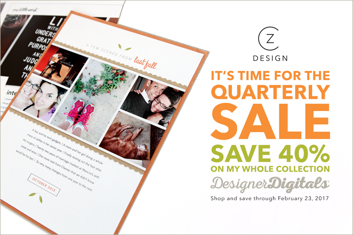 Last day of the quarterly sale is today!