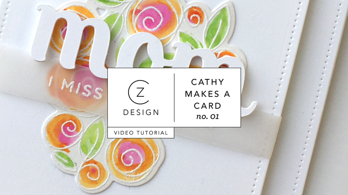 Cathy Makes a Card No. 01: embossing and distress ink painting (oh, my!)