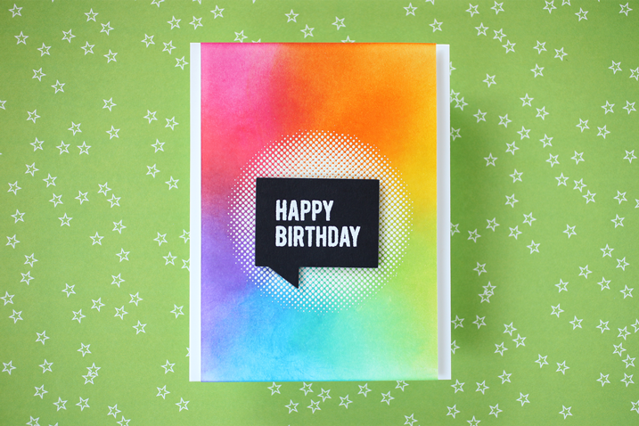 Cathy Makes a Card 05 Rainbow Birthday