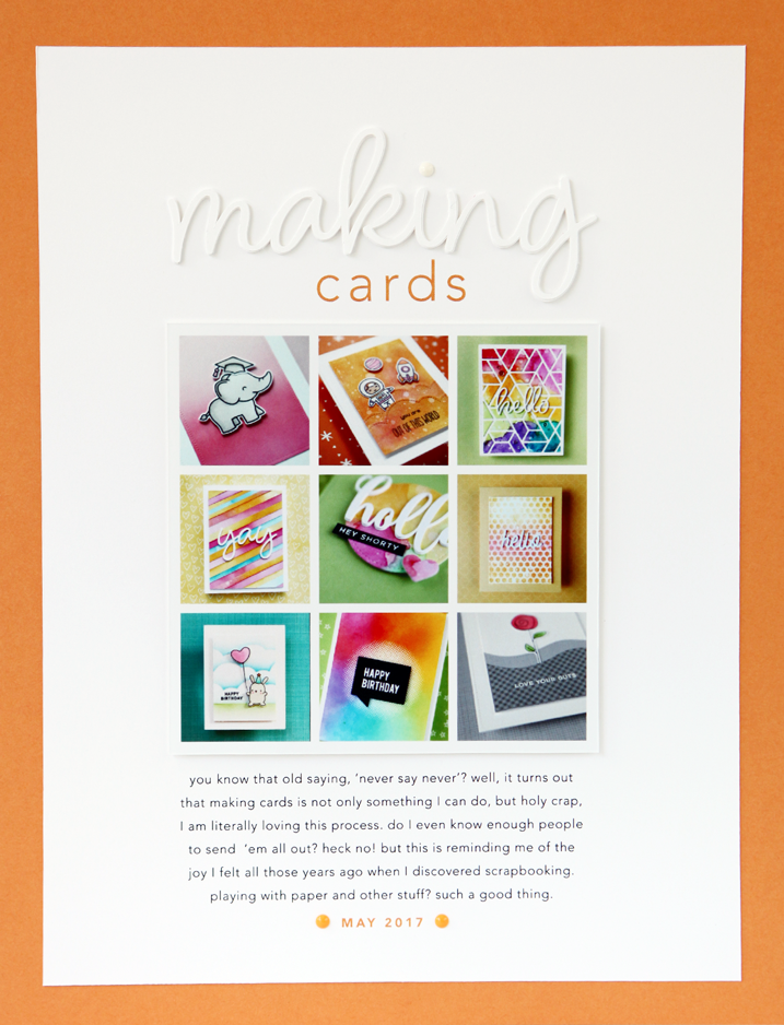 Scrapbook Page Share Making Cards Cz Design