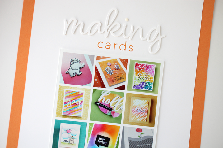 Scrapbook Page Share: Making Cards