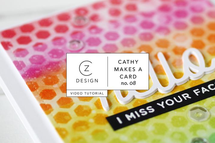 Card Tutorial: Rainbow Distress Ink Stencil