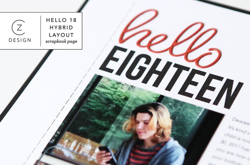 Scrapbook Page Share: Hello Eighteen (process video)