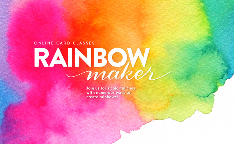 CLOSED: Win a seat in Rainbow Maker from Online Card Classes