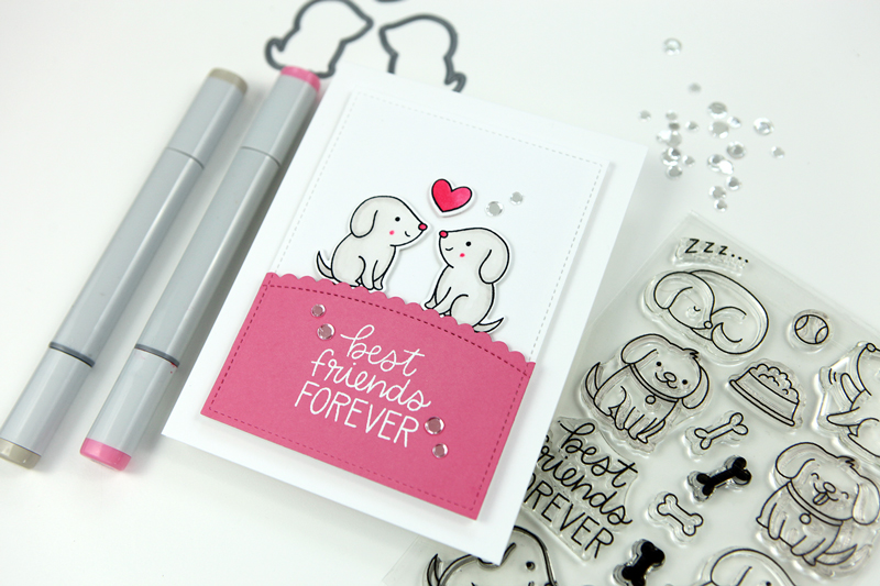 Pretty Pink Posh Best Friends Forever (a simple card project!)
