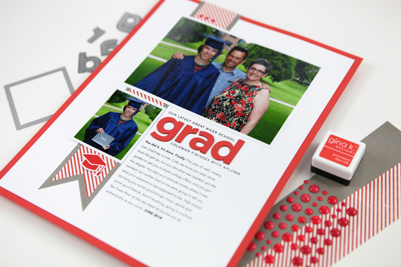 Pixel to Page: Grad Hybrid Scrapbooking Layout