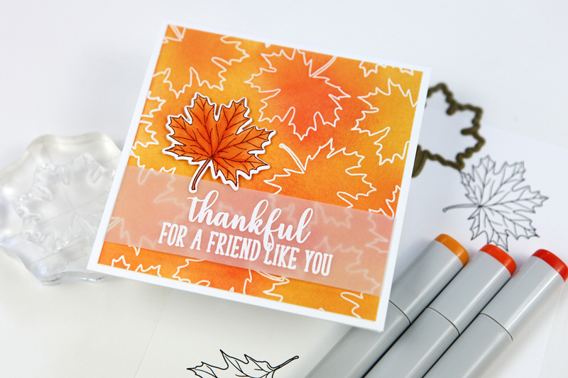 Thankful Leaves with Gina K. Designs & Therm O Web