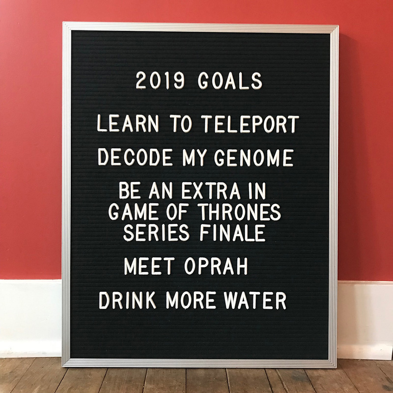 My plans for 2019, more or less
