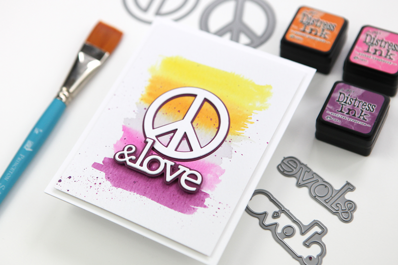 Peace & Love: Distress Ink Painting + Real World Color Inspiration
