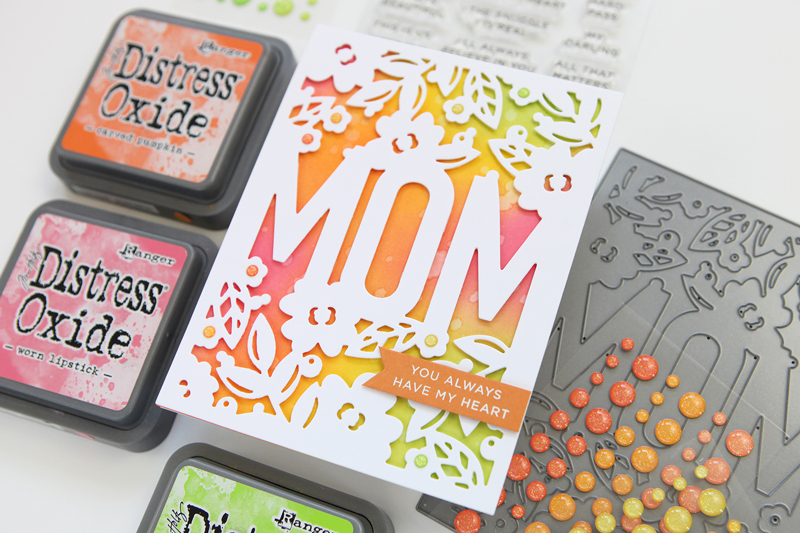 Mom Floral Frame Die (Simon Says Stamp Blossoms & Butterflies release)