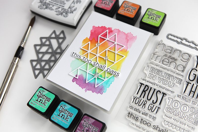This Too Shall Pass (card project + video + a new release from Simon Says Stamp)