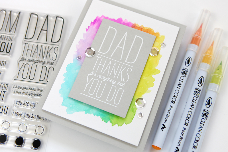 Simple Watercolor Frame (Father's Day card) + new releases from Simon Says Stamp