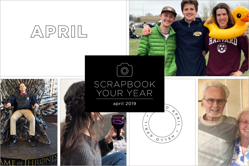 Scrapbook Your Year, My Pages for April 2019 (+ a International Scrapbook Day Class Sale!)