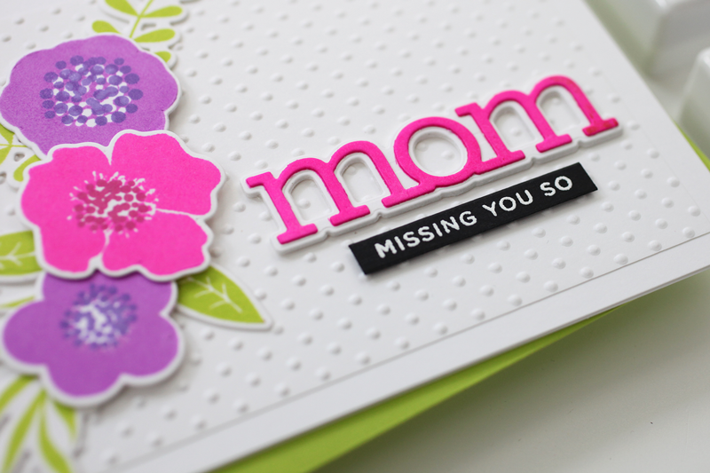 Electro Pop Neon Ink Floral Mom Card