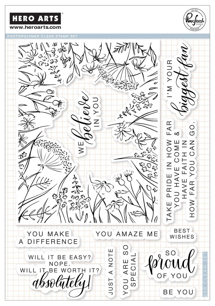 Hero Arts Kellys Sno Problem Design Stamp