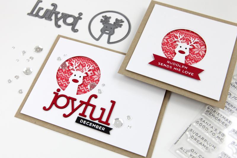 Ho Ho Deer Circle Die Cards (STAMPtember® Blog Party!)
