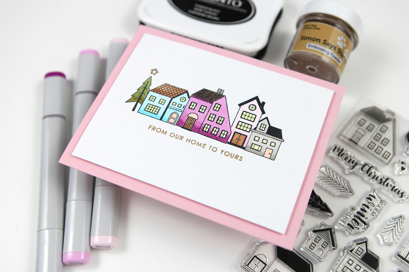 STAMPtember® Exclusive: Sugarpea Designs Nordic Village (masking + simple coloring)