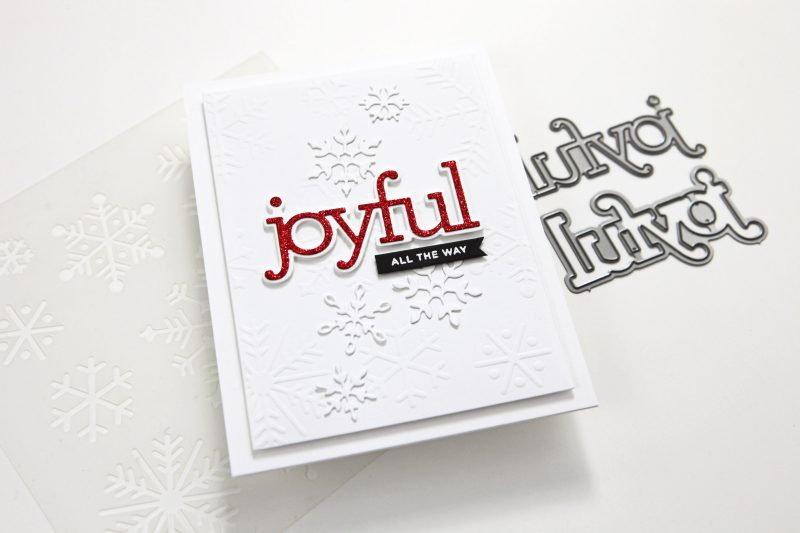 Dry embossing with a stencil (A Simon Says Stamp Cheer and Joy Blog Hop)